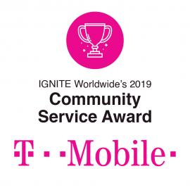 T-Mobile Receives IGNITE's 2019 Community Service Award