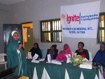 Mariamoh Ajiri Shools IGNITE Club president present talks