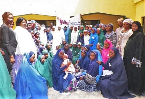 Group picture of IGNITE Katsina Students and School Club Coordinators