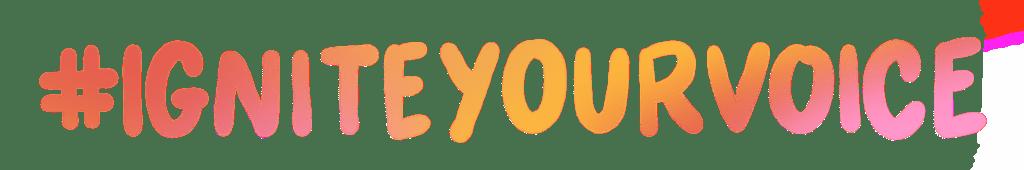 #IGNITEYourVoice Logo